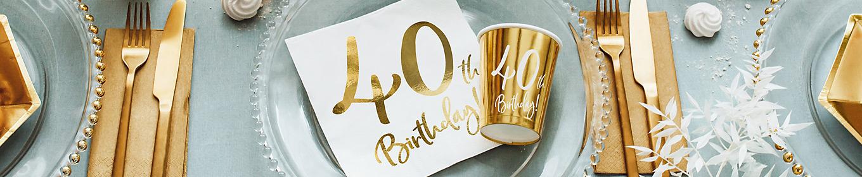 Deko 40. Geburtstag