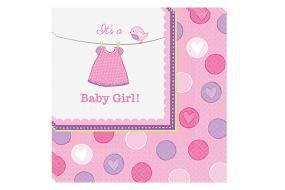 babyshower servietten girl