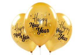 ballons happy new year gold 1