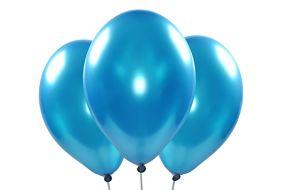 ballons metallic aqua 1