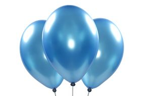 ballons metallic blau 1