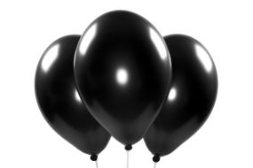 ballons metallic schwarz 1