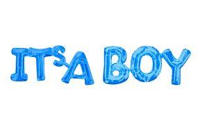 ballons schriftzug boy 1