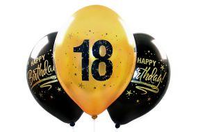 ballons zahl18 gold 1