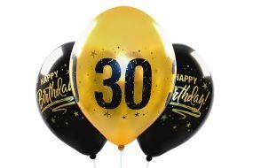 ballons zahl30 gold 1