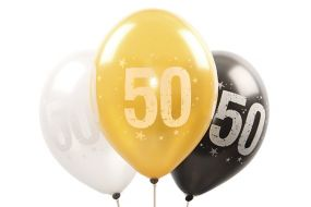 ballons zahl50 gold 1