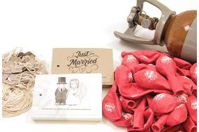 ballonwettbewerb set just married 100 1