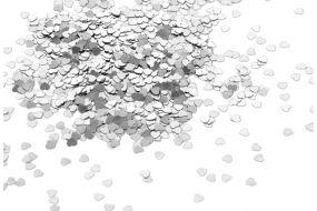 deko konfetti herz silber 1