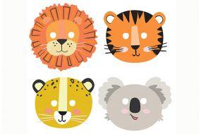 Dschungel Tiere Masken