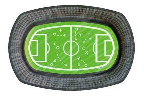 fussball teller oval