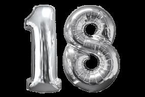 geschenkballon zahl 18 1