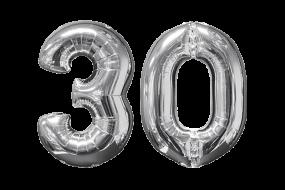 geschenkballon zahl 30 1