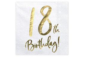 happy birthday elegant servietten 18 gold 1