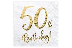 happy birthday elegant servietten 50 gold 1