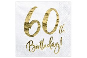 happy birthday elegant servietten 60 gold 1