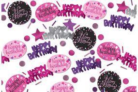 happy birthday pink deko konfetti