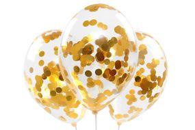 konfettiballons gold 1