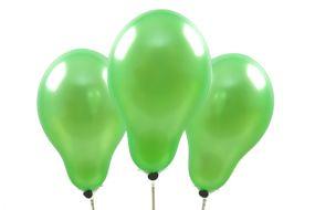 miniballons metallic hellgruen 1