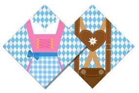 oktoberfest servietten dirndl