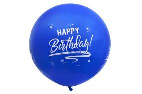 riesenballon geburtstag blau 1
