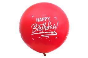 riesenballon geburtstag rot 1