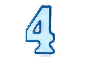 zahlenkerze 4 blau 1