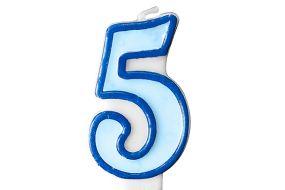 zahlenkerze 5 blau 1