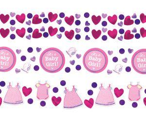 babyshower konfetti girl