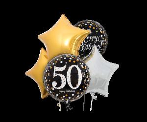 ballon bouquet 50 geburtstag elegant 1