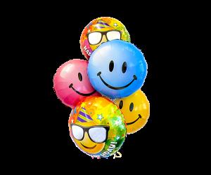 ballon bouquet smiley geburtstag 1