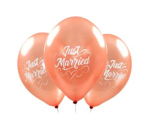 ballons just married rosegold 1