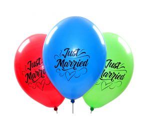 ballons justmarried assortiert 1