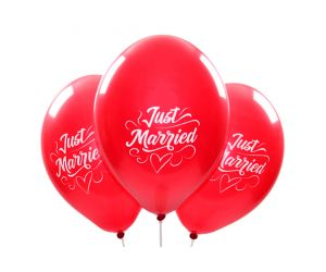 ballons justmarried rot 1