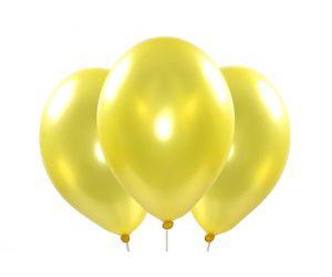 ballons metallic gelb 1