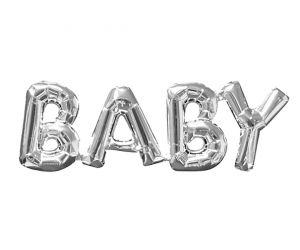 ballons schriftzug baby silber 1