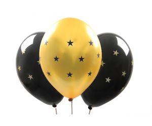 ballons sternen gold 1