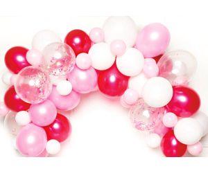 diy girlande rosa