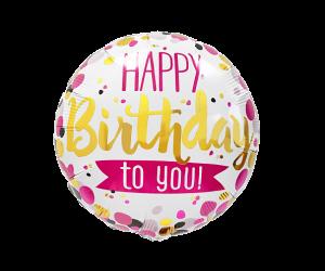 geschenkballon elegant happy birthday 1