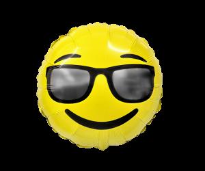geschenkballon emoji brille 1
