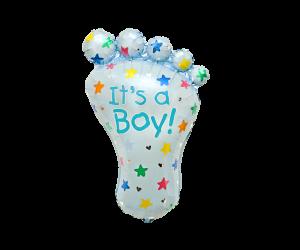 geschenkballon fuss junge 1