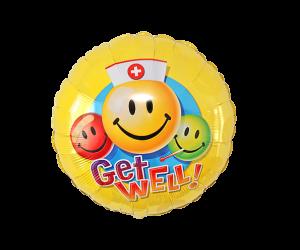 geschenkballon get well smiley 1