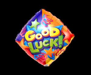geschenkballon good luck quadrat 1