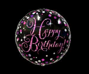 geschenkballon happy birthday elegant pink 1