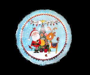 geschenkballon merry christmas comic ballon 1