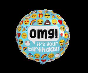 geschenkballon omg happy birthday 1