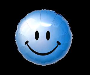 geschenkballon smiley blau 1