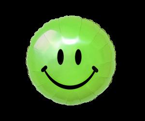 geschenkballon smiley gruen 1