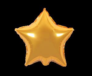 geschenkballon stern gold 1
