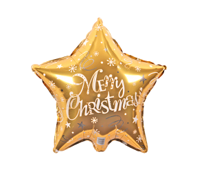 geschenkballon weihnacht stern gold 1
