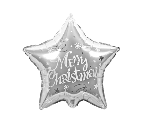 geschenkballon weihnacht stern silber 1